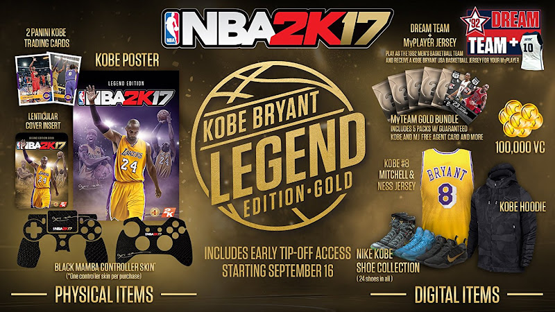 nba 2k17 gold edition bonus