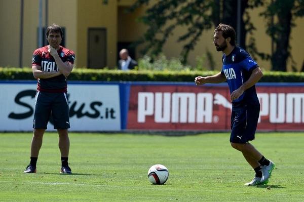 Conte dan Pirlo saat di timnas Italia