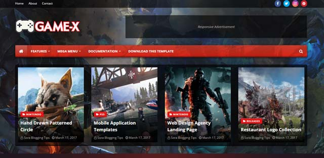 game-x-blogger-template-free-download