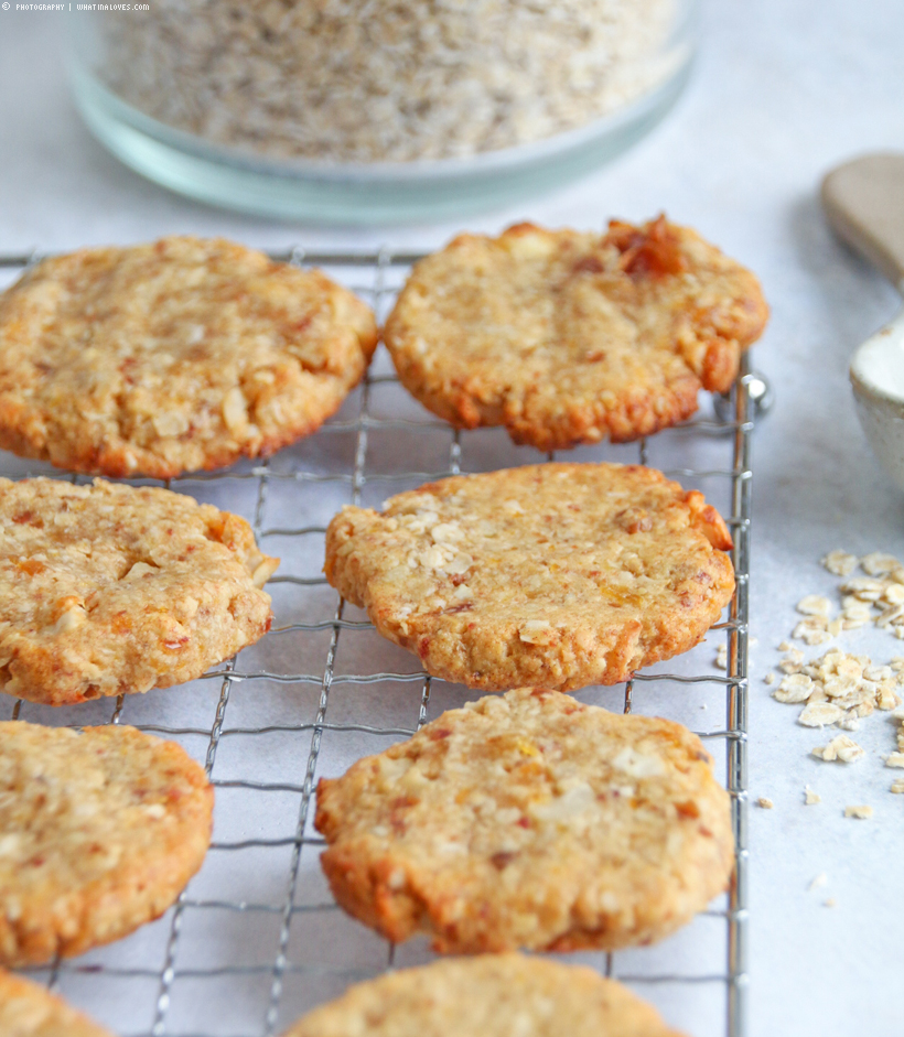 Aprikosen-Dattel-Kekse glutenfrei und zuckerfrei