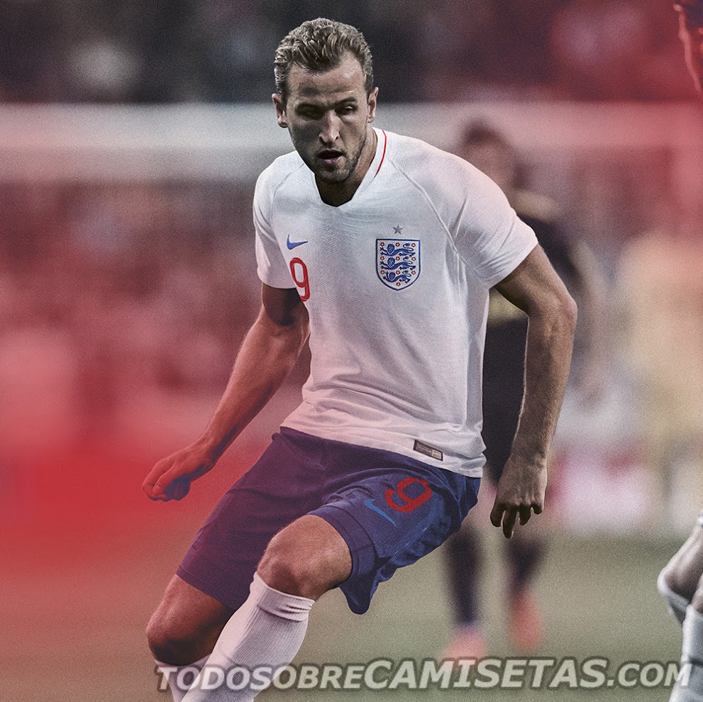 England 2018 World Cup Kit -  Dream League Soccer Kits