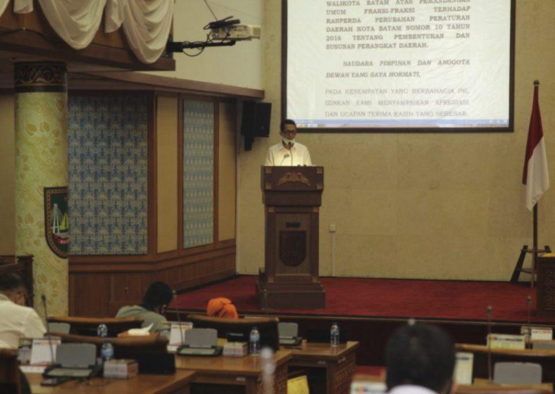 Pemko Apresiasi Dukungan DPRD Batam Terhadap Ranperda Perubahan Pembentukan dan Susunan Perangkat Daerah
