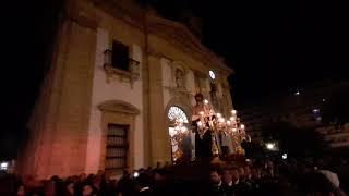 Salida del Vía Crucis de Jesus Despojado de Cádiz desde la Parroquia de San Jose. 07 de Marzo del 2020