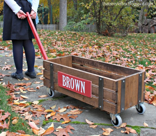 Ana white beautiful wood wagon for children industrial for Industrial diy projects