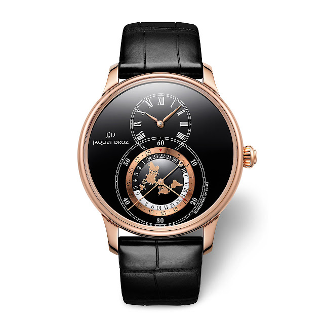 Jaquet Droz Grande Seconde Dual Time in red gold ref J016033202