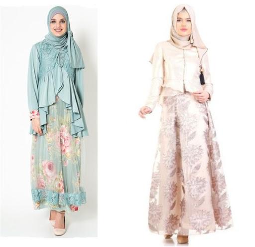 Model Baju Muslim Modern Kebaya Pesta Terbaru 2017/2018