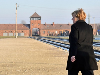 Angela Merkel visits concentration camp Auschwitz amid a rise in antisemitism in Germany