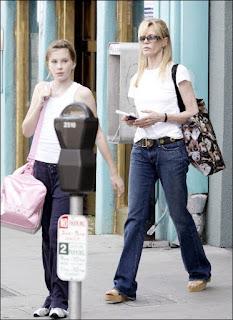 La actriz con su hija Irland (2006)