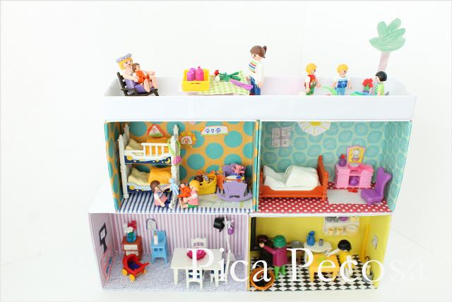 reciclaje-cajas-zapatos-casa-playmobil