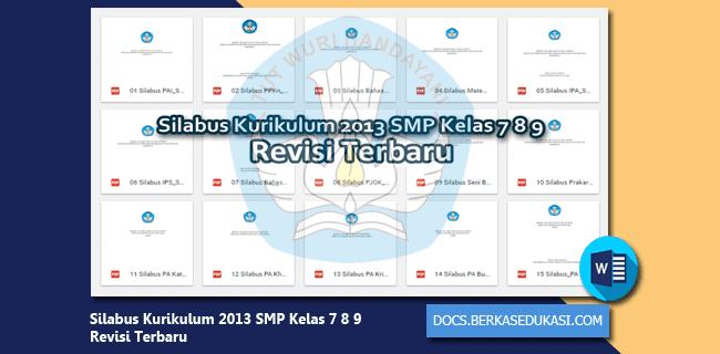 Silabus Kurikulum 2013 SMP Kelas 7 8 9 Revisi Terbaru