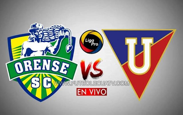 Orense se mide ante Liga de Quito en vivo a partir de las 15h15 horario local por la jornada nueve del campeonato ecuatoriano, siendo transmitido por GolTV Ecuador a efectuarse en el estadio Nueve de Mayo. Siendo el juez principal Jaime Sánchez.