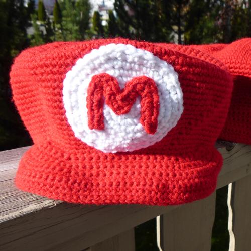 Crochet Mario Casquette - Free Pattern