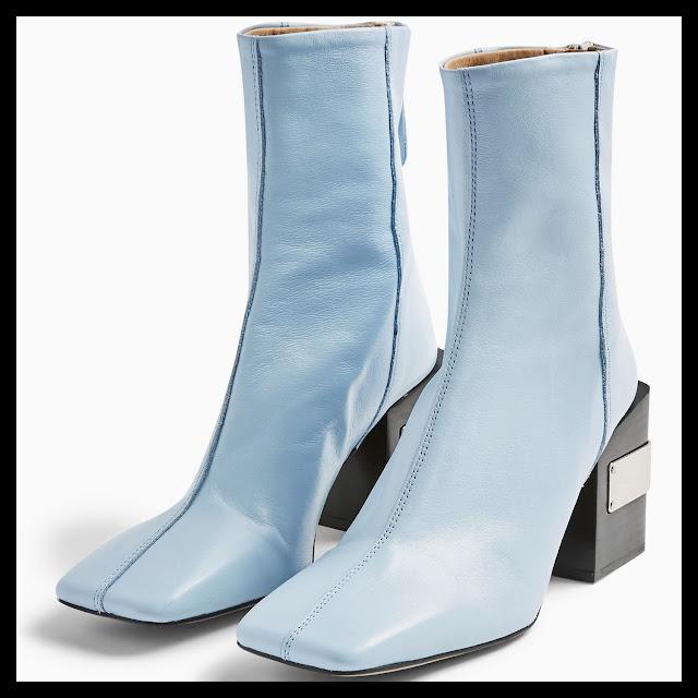 Topshop Block Square Toe Boots
