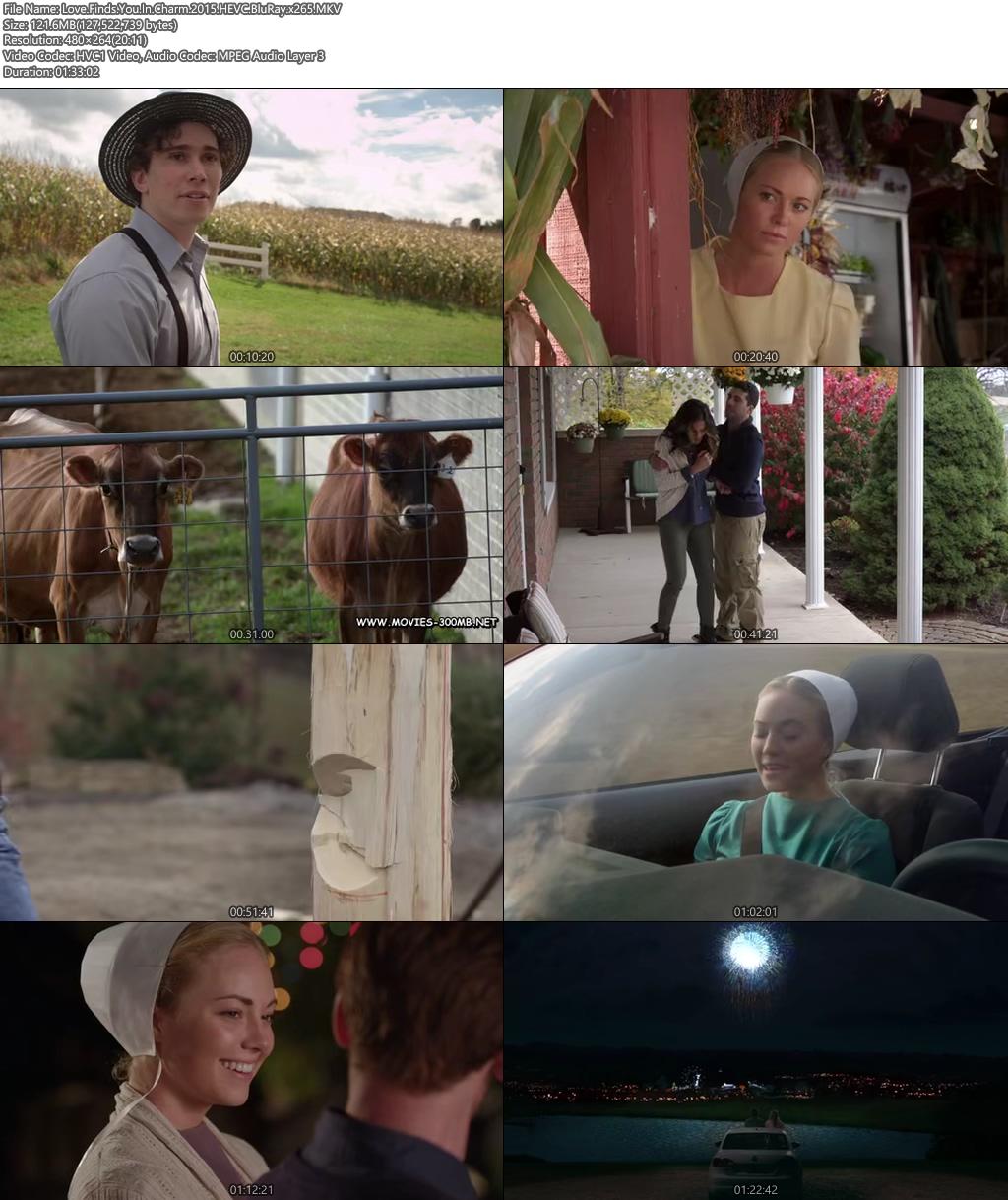 Love Finds You In Charm 2015 HEVC BluRay 100MB x265 Screenshot