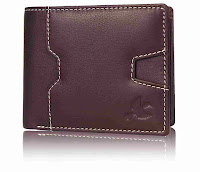 stitched design leather wallet