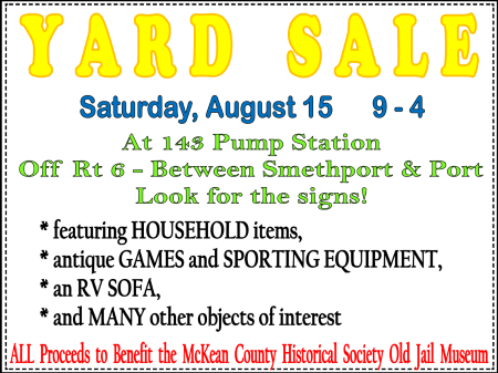 8-15 Yard Sale At 143 Pump Station