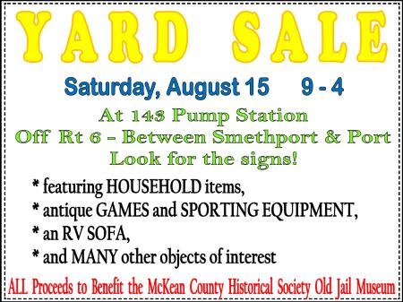 8-15 Yard Sale At 143 Pump Station