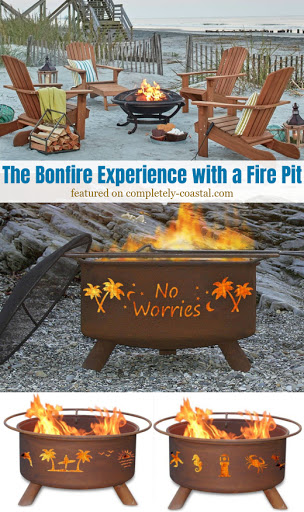Beach Bonfire Experience with a Fire Pit