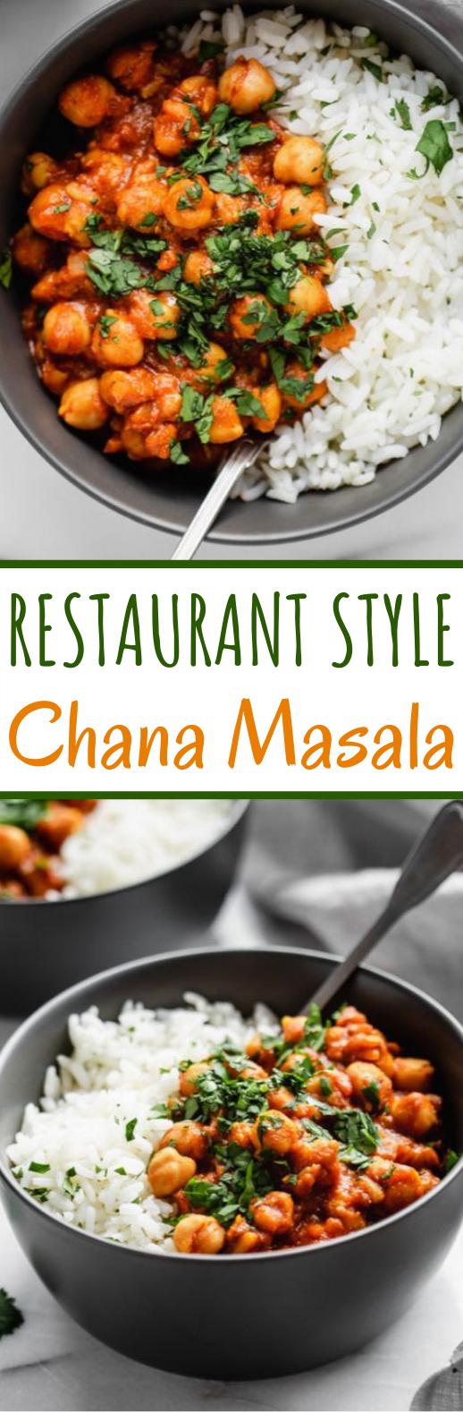 Restaurant Style Chana Masala #vegan #dinner #meatless #curry #chickpea