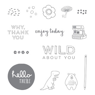 Take a look at the Pieces & Patterns stamp set by Stampin' Up!. This is available in Clear Mount and Wood Mount.
