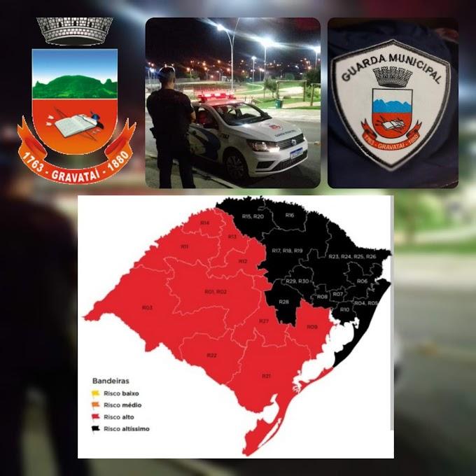 COVID-19 | Guarda Municipal de Gravataí recebe orientações sobre novo decreto estadual da bandeira preta