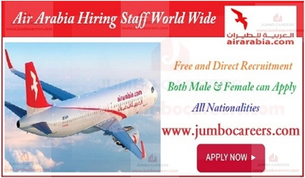 Latest Job vacancies at Air Arabia, How to apply for Air Arabia jobs,