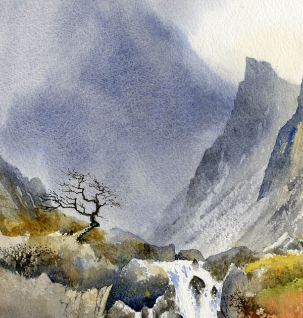 Davidbellamyart Painting Waterfalls In Watercolour