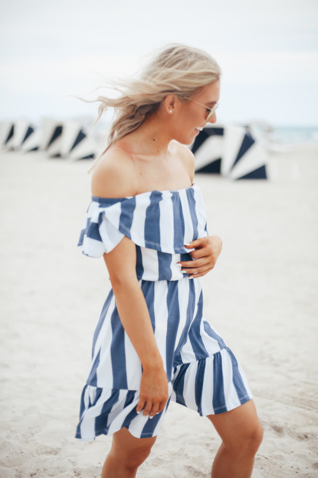 asos stripe beach dress