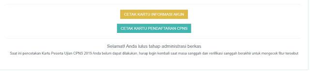 Pengumuman Seleksi Administrasi CPNS Maluku Utara