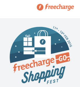 Freecharge Go Shopping Fest Get upto 70% discount + extra 25% cashback on online shopping