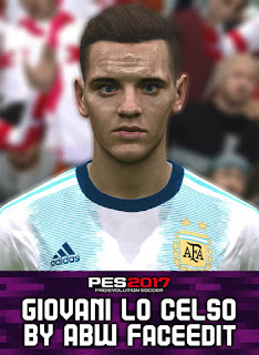 PES 2017 Faces Giovani Lo Celso by ABW_FaceEdit