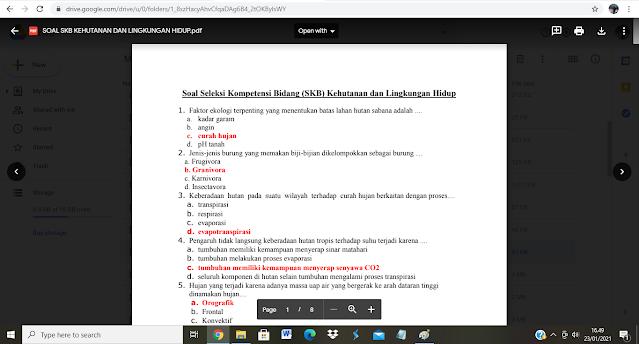 Contoh soal tes P3K Kejaksaan dan Kunci Jawaban