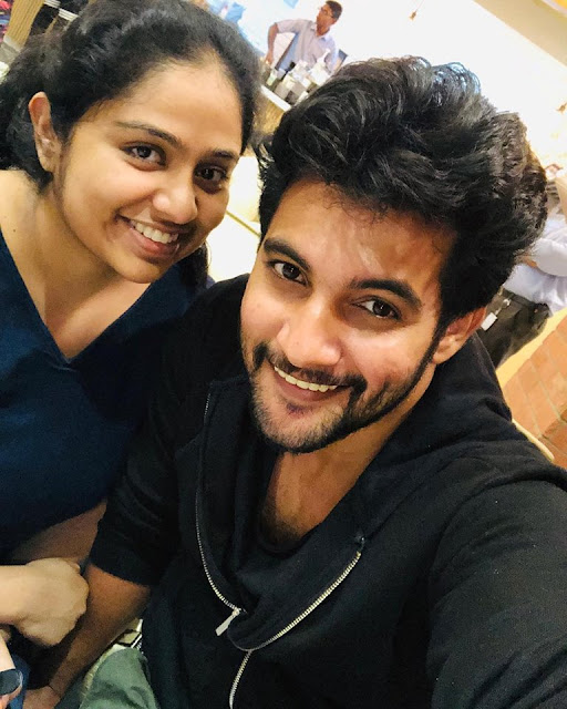 Aadi latet Images with his Wife