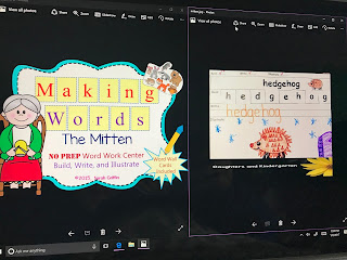 https://www.teacherspayteachers.com/Product/Making-Words-The-Mitten-NO-PREP-Word-Work-Center-1739938