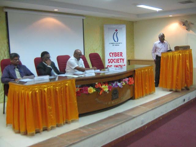 Dr Chellappan, Justice Jyothimani, S S Ramasubbu.  V Rajendran on podium
