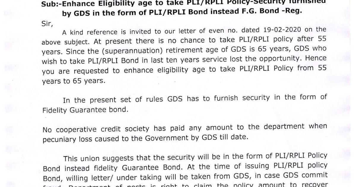 Enhance Eligibility age to take PLI/RPLI Policy-Security ...