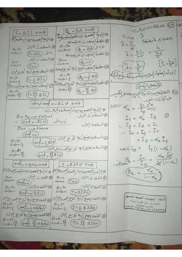 كل قوانين الفيزياء لثالثة ثانوي أ/ علاء رضوان 0%2B%25289%2529