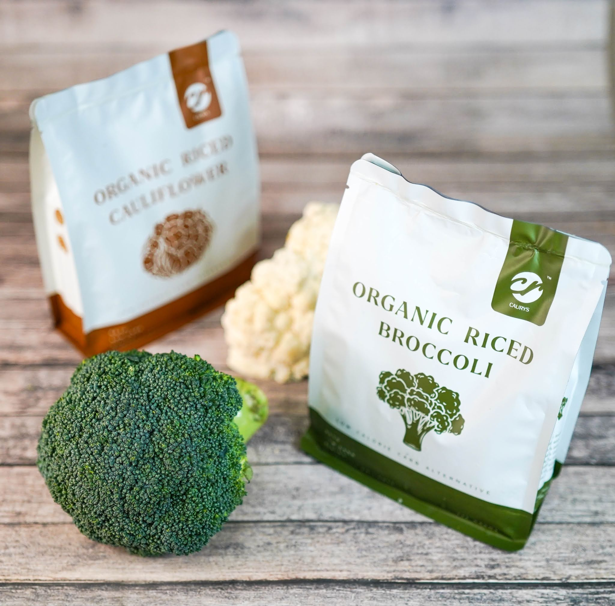 Caurys: Healthy, convenient riced broccoli & cauliflower for home cooking
