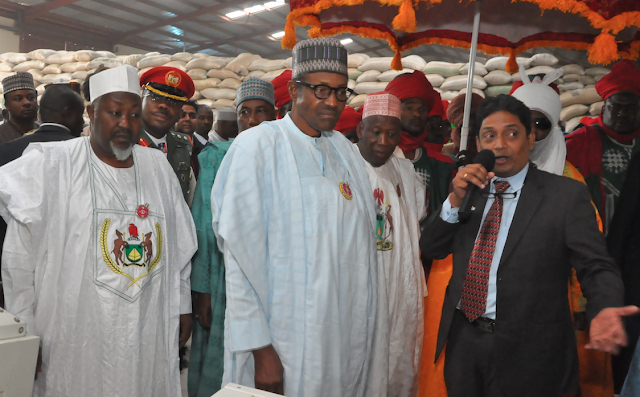 President Buhari Inaugurates First Made in Nigeria Rice Mill in Kano
