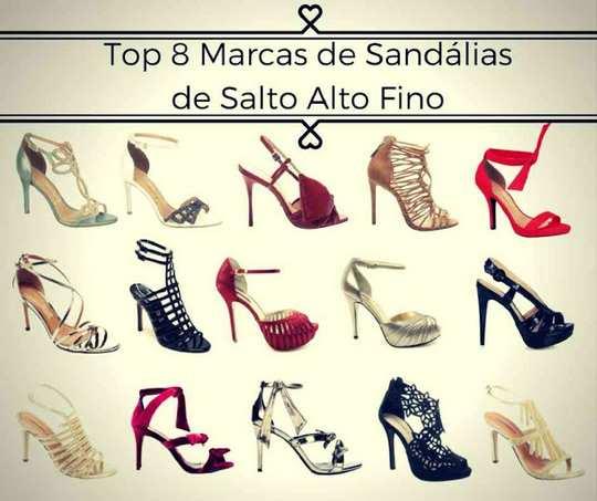 Top 8 Marcas de Sandálias de Salto Alto Fino