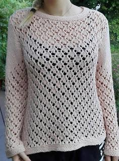 wzór bluzki na drutach