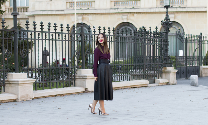 street fashion midi skirt