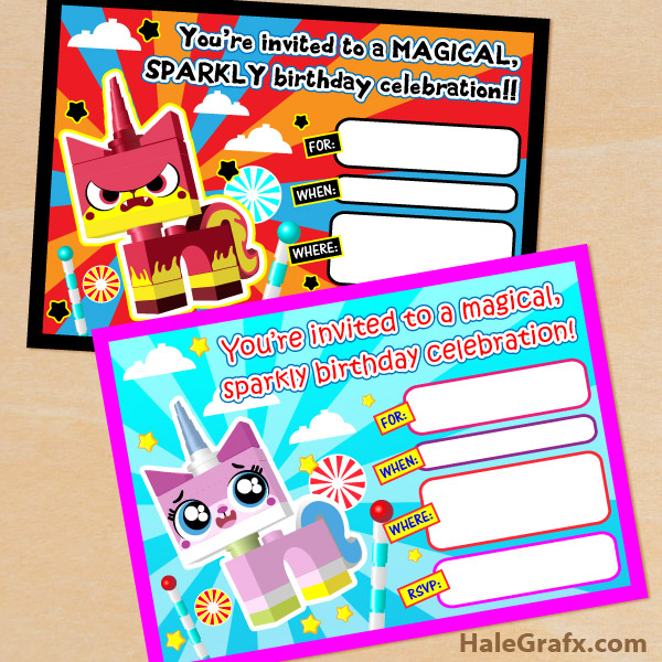 Lego Movie Free Printable Party Invitations and Thank You Cards – Lego Birthday Card Printable