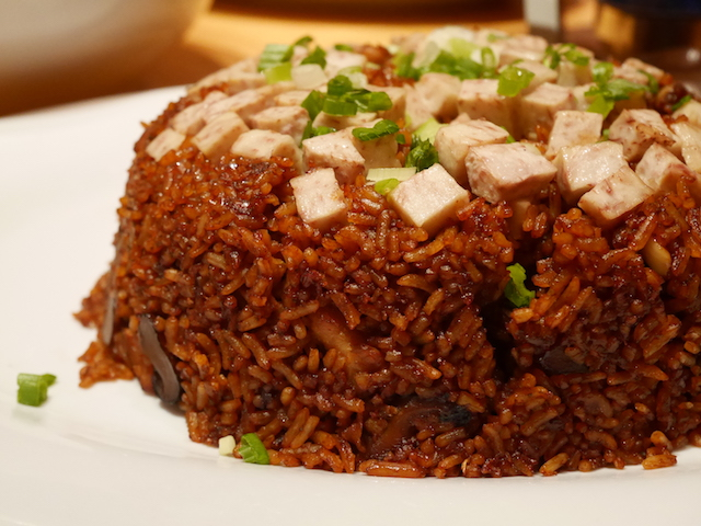 Fried Rice with Yam and Chicken Meat