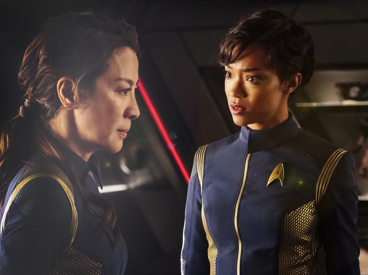 Michele Yeoh e Sonequa Martin-Green em Star Trek: Discovery