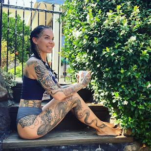 Unique dragon tattoos on leg or Thigh