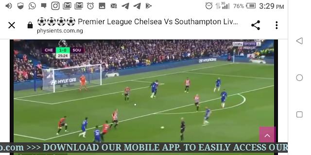 ⚽⚽⚽⚽ Premier League Chelsea Vs Southampton Live HD ⚽⚽⚽⚽