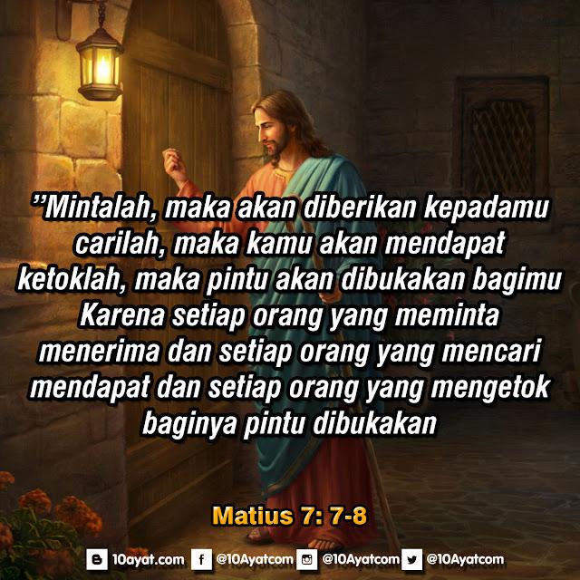 Matius 7: 7-8