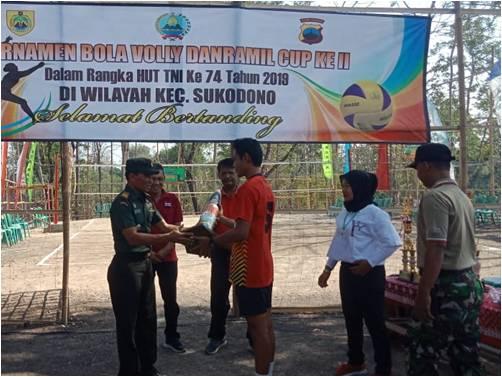 Turnamen Bola Volly Danramil Cup Tahap II Dibuka