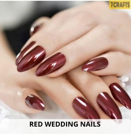 hot red wedding nail colors for 2021